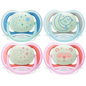 Philips Avent Avent Ultra Air Nighttime Pacifier, 6-18 months, various colors, 2pk, SCF376/21