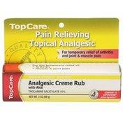 TopCare Maximum Strength Analgesic Trolamine Salicylate 10% With Aloe Pain Relieving Topical Creme Rub, Odor Free