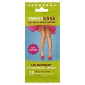 Sweetease Waxing Kit, Leg, Vanilla, Wrapper