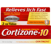 Cortizone 10 1% Hydrocortisone Anti-Itch Ointment Maximum Strength