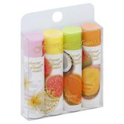 Forever Florals Lip Balm, in Tube, Assorted, 4 Pack