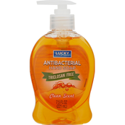 Lucky Super Soft Hand Soap, Antibacterial, Clean Scent