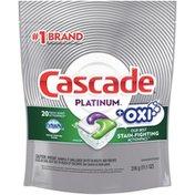 Cascade + Oxi Actionpacs Dishwasher Detergent Pods, Fresh