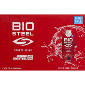 BioSteel Sports Drink, Sugar Free, Mixed Berry Flavor