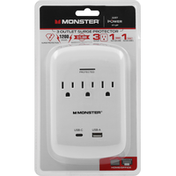 Monster 3 Outlet, Surge Protector, Home/Office