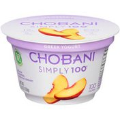 Chobani Simply 100 Peach Blended  Non-Fat Greek Yogurt
