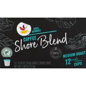 SB Coffee, 100% Arabica, Medium Roast, Shore Blend, Single Serve Cups