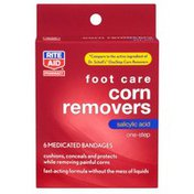 Rite Aid Corn Remover, One-Step, Medicated Bandages, 6 bandages