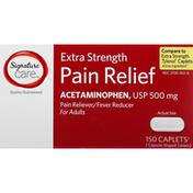 Signature Care Pain Relief, Extra Strength, Caplets