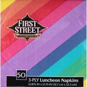 First Street Napkins, Luncheon, Rainbow, 3-Ply