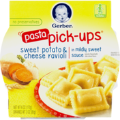 Gerber Pasta Pick-Ups Sweet Potato & Cheese Ravioli in Mildly Sweet Sauce