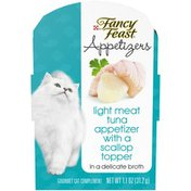Fancy Feast Appetizers Light Meat Tuna With a Scallop Topper Cat Treats