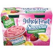 Whole Fruit Strawberry Banana Frozen Smoothie