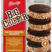 Friendly's Ice Cream Sandwiches, Salted Caramel Brookie, 4 Pack