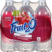 Fruit 2 O Purified Water Beverage, Cherry, 6 Pack