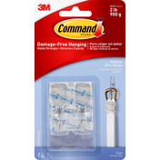 3M Command Wire Hook, Clear Medium