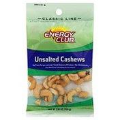 Energy Club Cashews, Unsalted
