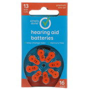 Simply Done 13 Size 1.4V Hearing Aid Batteries