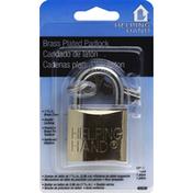 Helping Hand Solid Brass Padlock