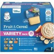 Gerber Baby Food Fruit & Cereal Puree Favorites Variety Pack