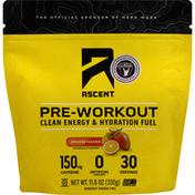 Ascent Energy Drink Mix, Orange, Mango, Pre-Workout