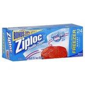 Ziploc Freezer Bags, Heavy Duty, Double Zipper, Quart