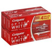 Colgate Toothpaste, Anticavity Fluoride, Sparkling White, Sparkling Mint, Value Pack