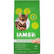 IAMS Proactive Health Optimal Metabolism with Chicken Dry Cat Food