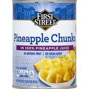 First Street Pineapple, in 100% Pineapple Juice, Chunks