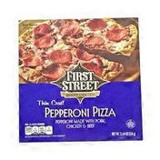 First Street Thin Crust Pepperoni Pizza