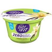 Dannon Zero Artificial Sweeteners Vanilla Nonfat Yogurt