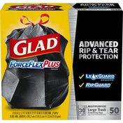 Glad Force Flex Large Trash Drawstring Bags Extra Strong