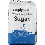 Simply Value Sugar, White, Granulated