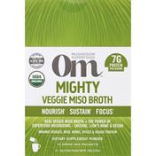 Om Mushroom Powder, Mighty, Veggie Miso Broth, 10 Packs