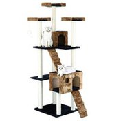 """Go Pet Club Classic Cat Tree Furniture With Sisal Scratching Posts - 72"""""""