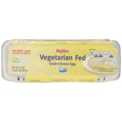 Hy-Vee Vegetarian Fed Grade A Large Brown Eggs