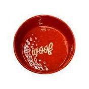 Ore Originals Ceramic Etched Bowl Dog, Red