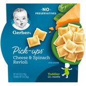 Gerber Pick-Ups Cheese and Spinach Ravioli Toddler Meal