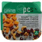 PICS Snack & Go Packs, Sharp Yellow Cheddar Cheese, 3 Pack