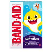 Band-Aid Brand Adhesive Bandages, Pinkfong Baby Shark, Assorted