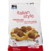 Food Lion Meatballs, Italian Style, Bag