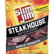 Slim Jim Steakhouse Tender Steak Strips Smokin Mesquite Flavored
