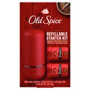 Old Spice Swagger Starter Kit, One Refillable Case, Two Antiperspirant Deodorant