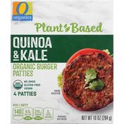 O Organics Burger Patties, Organic, Quinoa & Kale