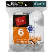 Hanes Socks, Cushion No Show, Boys', Medium
