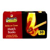 Smart Living Match Books - 50 PK