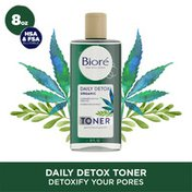 Bioré Daily Detox Toner, with Organic Cannabis Sativa Seed Oil and Green Tea Extract