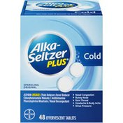Alka-Seltzer Plus Sparkling Original Effervescent Tablets Cold Medicine