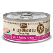 Merrick 24 Count Limited Ingredient Diet Real Turkey Recipe Canned Cat Food