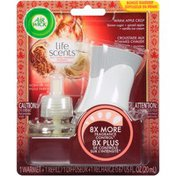 Air Wick Life Scents Warm Apple Crisp Scented Oil Air Freshener Warmer + Refill
